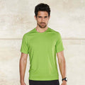 Lime - Back - Kariban Mens Proact Sports - Training T-Shirt