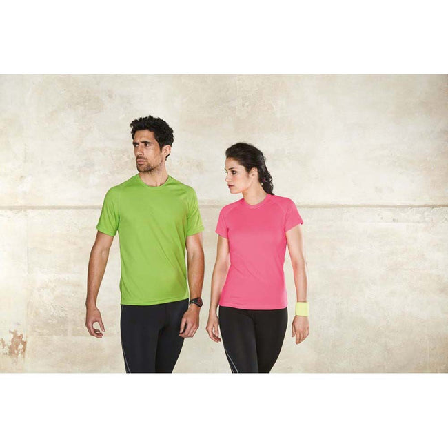 Lime - Side - Kariban Mens Proact Sports - Training T-Shirt