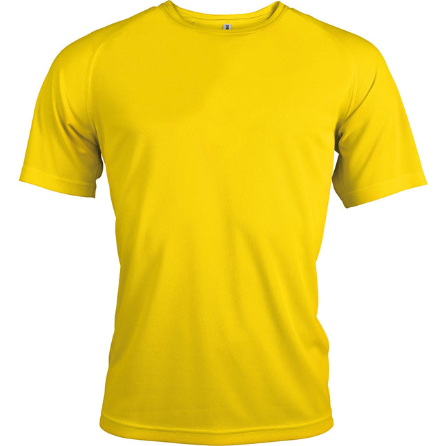 True Yellow - Front - Kariban Mens Proact Sports - Training T-Shirt