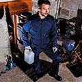 Navy - Back - Portwest Mens Liverpool Zip Up Protective Workwear Coverall