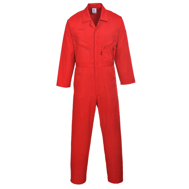 Red - Front - Portwest Mens Liverpool Zip Up Protective Workwear Coverall