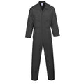 Black - Front - Portwest Mens Liverpool Zip Up Protective Workwear Coverall