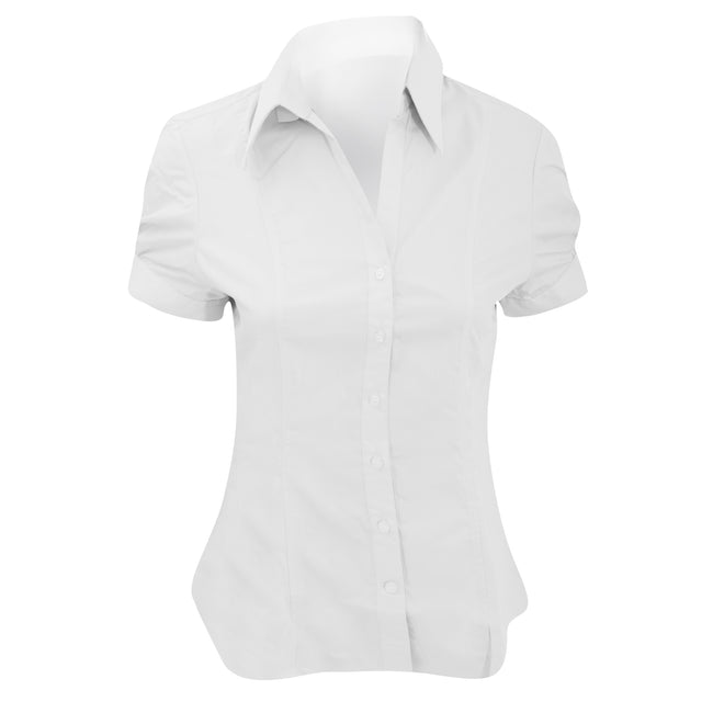 White - Front - Brook Taverner Ladies-Womens Paduli Short Sleeve Blouse