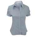 Blue - Front - Brook Taverner Ladies-Womens Paduli Short Sleeve Blouse