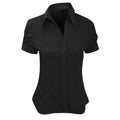 Black - Front - Brook Taverner Ladies-Womens Paduli Short Sleeve Blouse