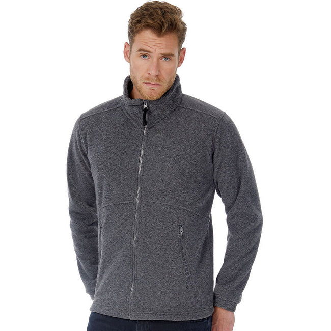 Charcoal - Back - B&C Mens Icewalker+ Full Zip Fleece Top