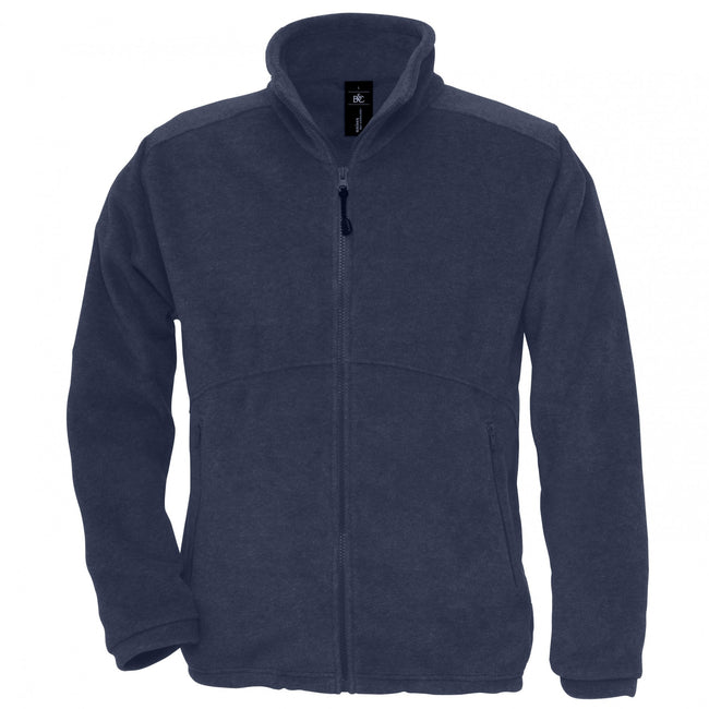 Navy - Front - B&C Mens Icewalker+ Full Zip Fleece Top