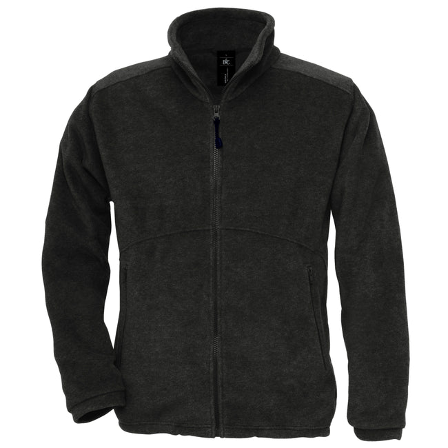 Black - Front - B&C Mens Icewalker+ Full Zip Fleece Top