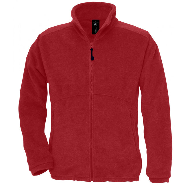 Red - Front - B&C Mens Icewalker+ Full Zip Fleece Top