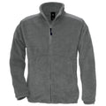Charcoal - Front - B&C Mens Icewalker+ Full Zip Fleece Top