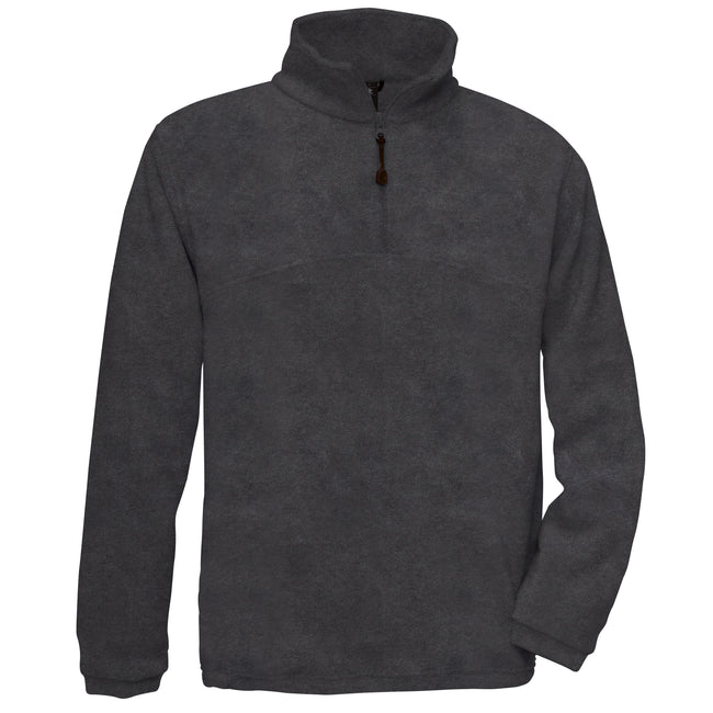 Navy - Front - B&C Mens Highlander+ 1-4 Zip Fleece Top