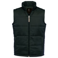 Black - Front - B&C Mens Full Zip Waterproof Bodywarmer-Gilet
