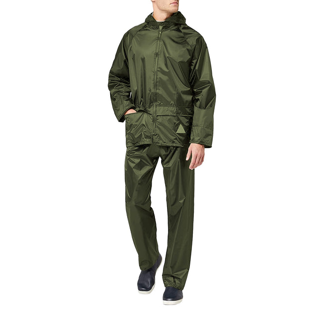 Royal - Front - Result Mens Heavyweight Waterproof Rain Suit (Jacket & Trouser Suit)