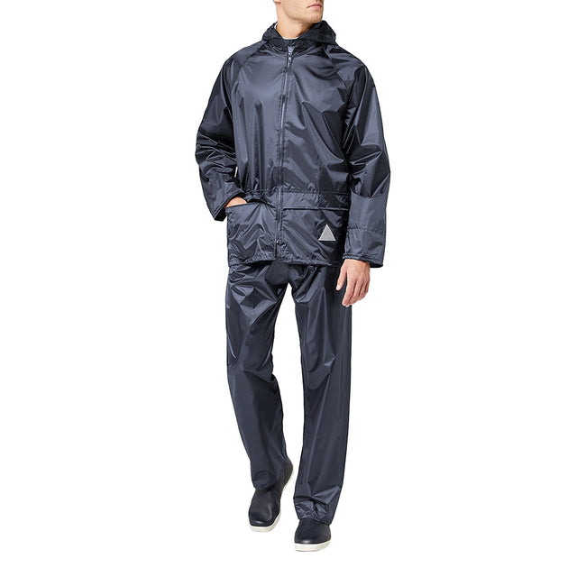 Olive - Front - Result Mens Heavyweight Waterproof Rain Suit (Jacket & Trouser Suit)