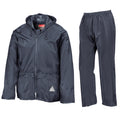 Olive - Back - Result Mens Heavyweight Waterproof Rain Suit (Jacket & Trouser Suit)
