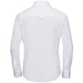 White - Front - Russell Collection Womens-Ladies Long Sleeve Classic Twill Shirt