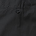 Black - Close up - Russell Collection Womens-Ladies Long Sleeve Classic Twill Shirt