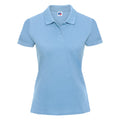 Yellow - Front - Russell Europe Womens-Ladies Classic Cotton Short Sleeve Polo Shirt