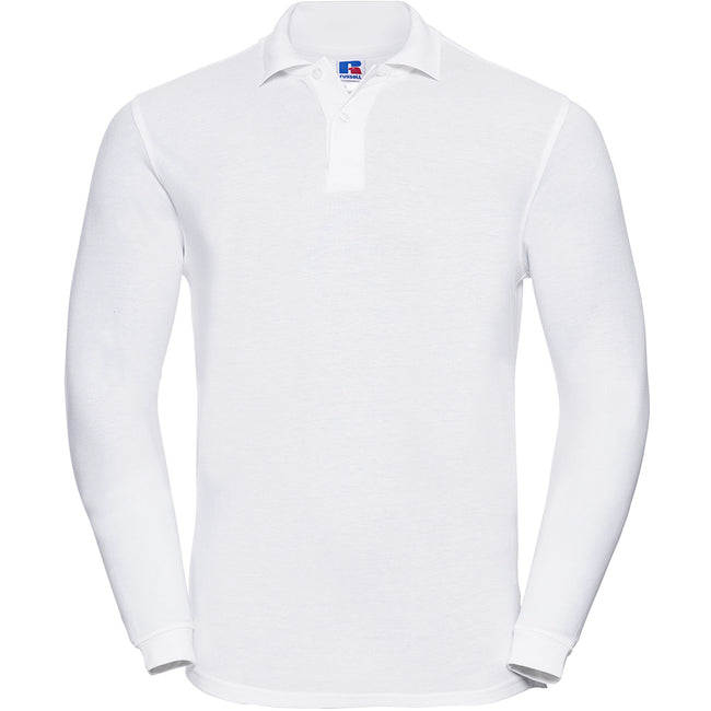 Black - Lifestyle - Russell Europe Mens Long Sleeve Classic Cotton Polo Shirt