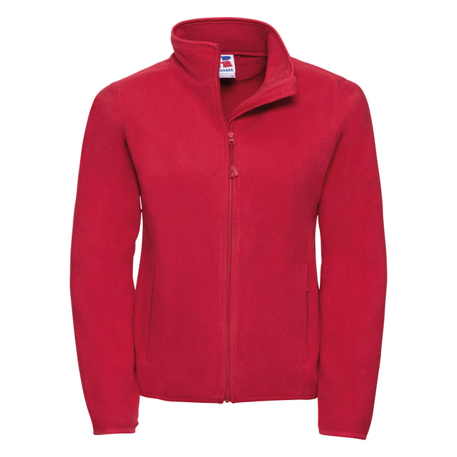 Classic Red - Front - Russell Europe Womens-Ladies Full Zip Fitted Anti-Pill Microfleece Top