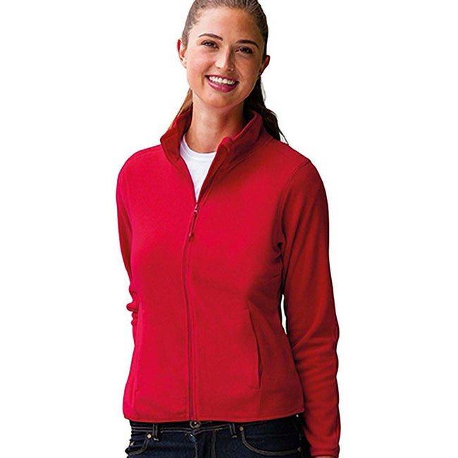 Classic Red - Back - Russell Europe Womens-Ladies Full Zip Fitted Anti-Pill Microfleece Top