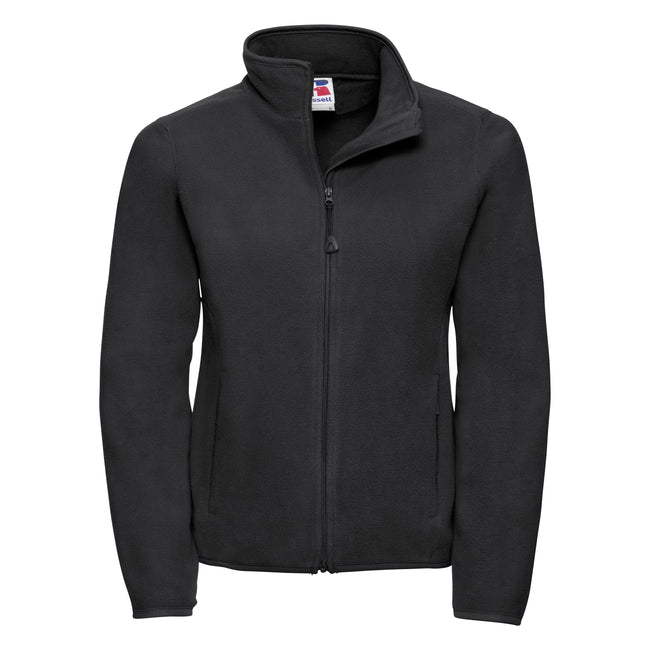 Black - Front - Russell Europe Womens-Ladies Full Zip Fitted Anti-Pill Microfleece Top