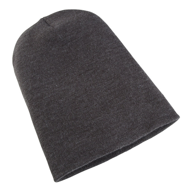 Charcoal - Front - Yupoong Flexfit Unisex Heavyweight Long Beanie Winter Hat