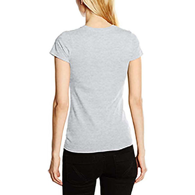 Heather Gray - Back - Fruit Of The Loom Womens Lady-Fit Sofspun Short Sleeve T-Shirt