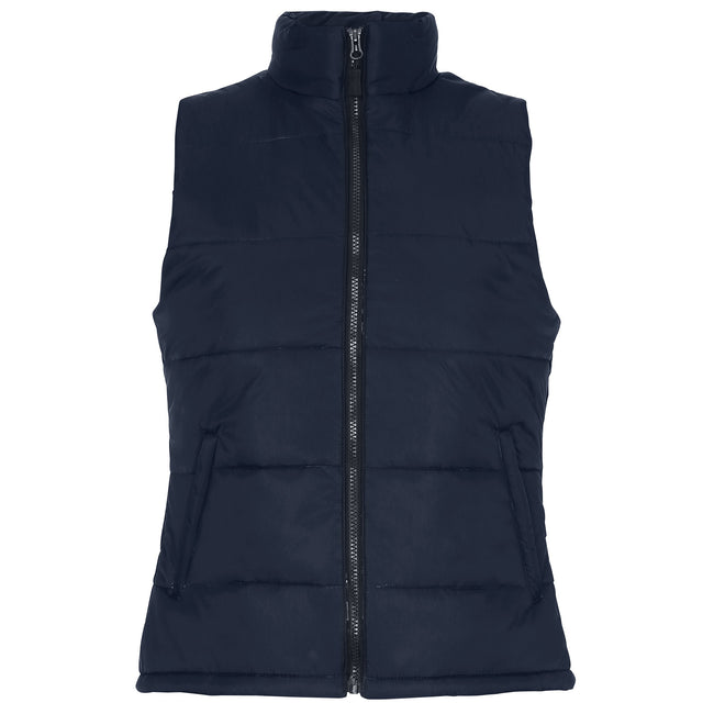 Navy - Front - 2786 Womens-Ladies Padded Bodywarmer-Gilet Jacket