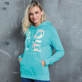 Turquoise Surf - Back - AWDis Just Hoods Womens-Ladies Girlie College Pullover Hoodie