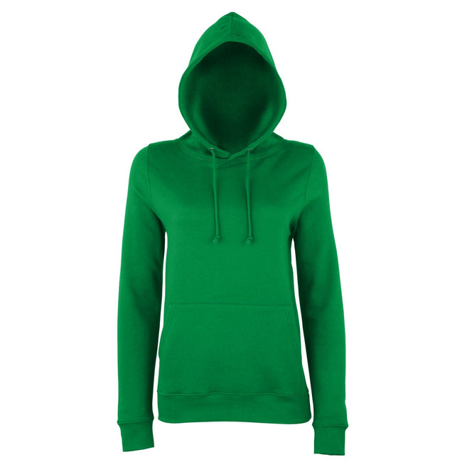 Kelly Green - Front - AWDis Just Hoods Womens-Ladies Girlie College Pullover Hoodie