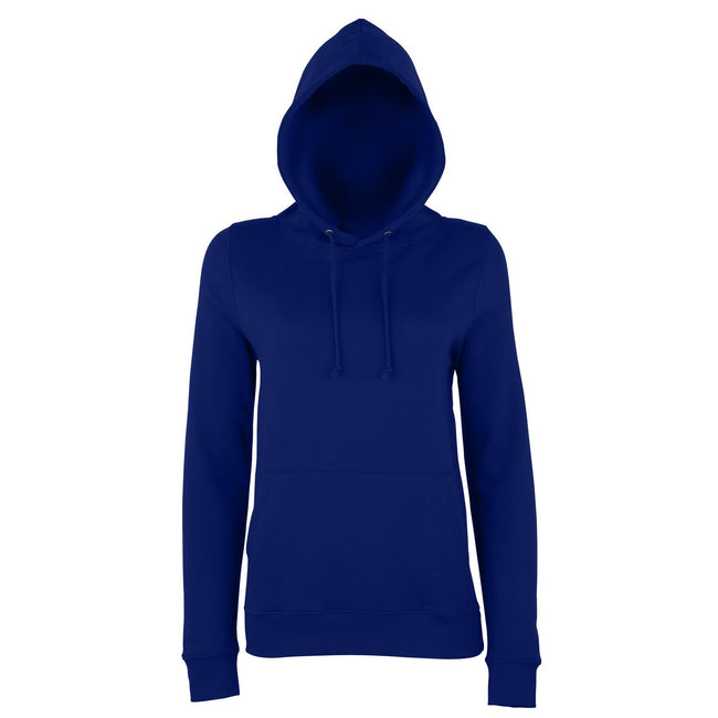New French Navy - Front - AWDis Just Hoods Womens-Ladies Girlie College Pullover Hoodie
