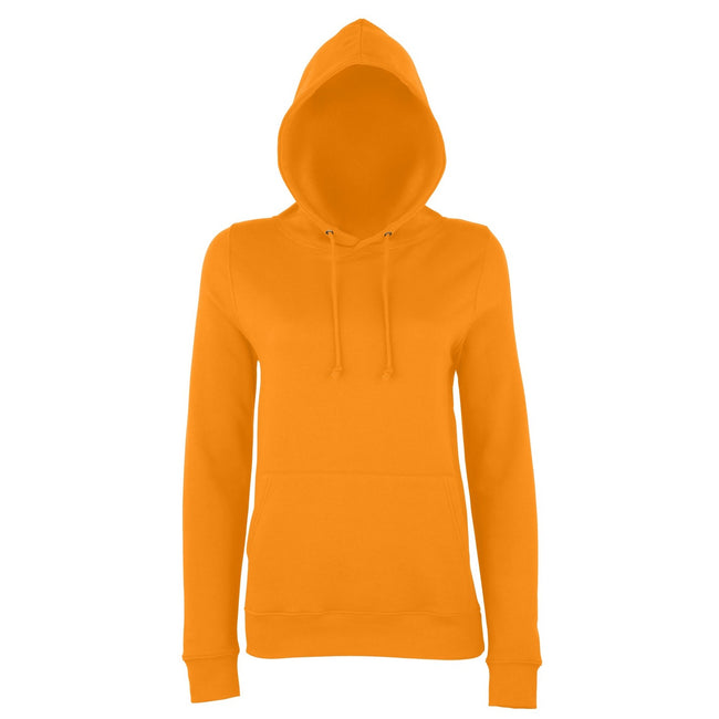Orange Crush - Front - AWDis Just Hoods Womens-Ladies Girlie College Pullover Hoodie