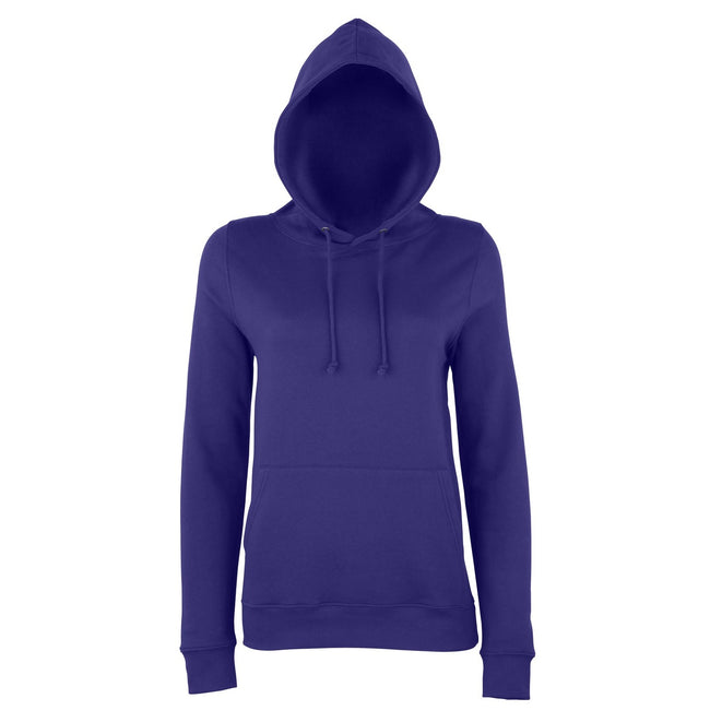 Purple - Front - AWDis Just Hoods Womens-Ladies Girlie College Pullover Hoodie