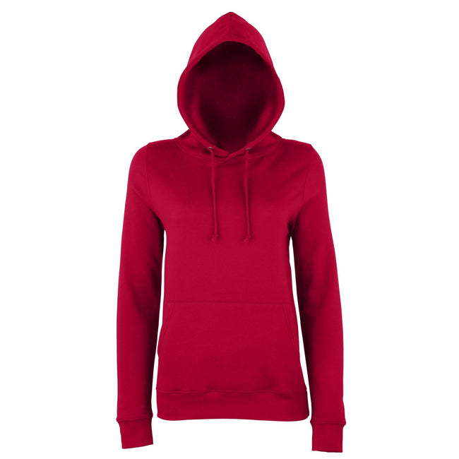 Red Hot Chilli - Front - AWDis Just Hoods Womens-Ladies Girlie College Pullover Hoodie