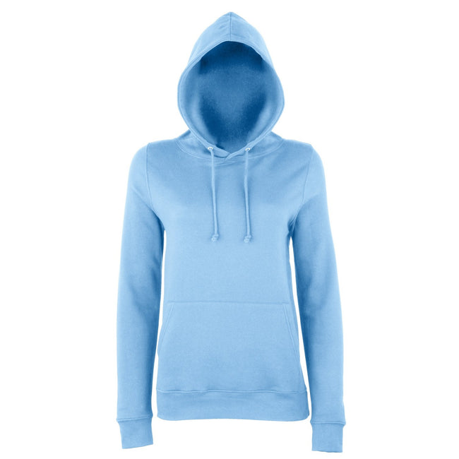Sky Blue - Front - AWDis Just Hoods Womens-Ladies Girlie College Pullover Hoodie
