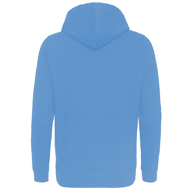 Sky Blue - Back - AWDis Just Hoods Womens-Ladies Girlie College Pullover Hoodie