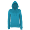 Sapphire Blue - Front - AWDis Just Hoods Womens-Ladies Girlie College Pullover Hoodie