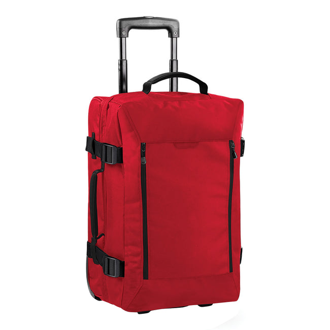 Classic Red - Front - Bagbase Escape Dual-Layer Cabin Wheelie Travel Bag-Suitcase (40 Liters)