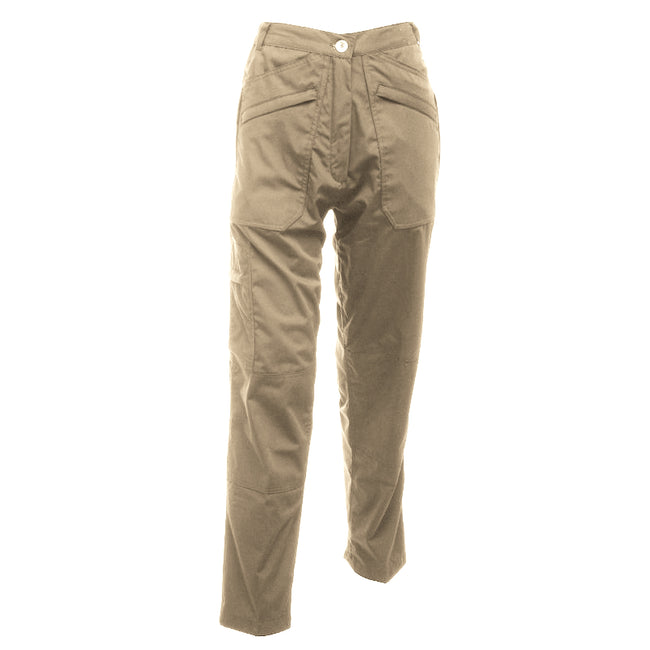 Lichen - Front - Regatta Womens-Ladies Action II Water Repellent Work Trousers