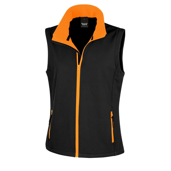 Navy - Royal - Front - Result Core Womens-Ladies Printable Softshell Bodywarmer