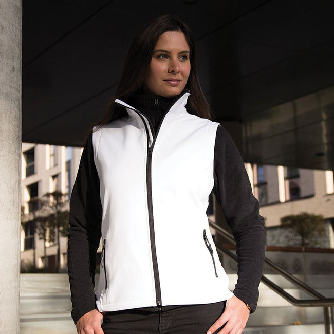 Yellow - Black - Front - Result Core Womens-Ladies Printable Softshell Bodywarmer