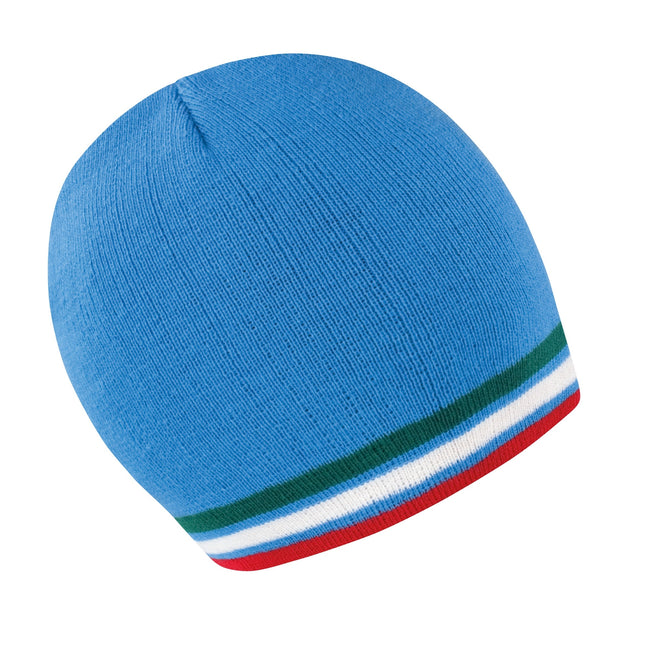 Blue - Green - White - Red - Front - Result Unisex Winter Essentials National Beanie Hat
