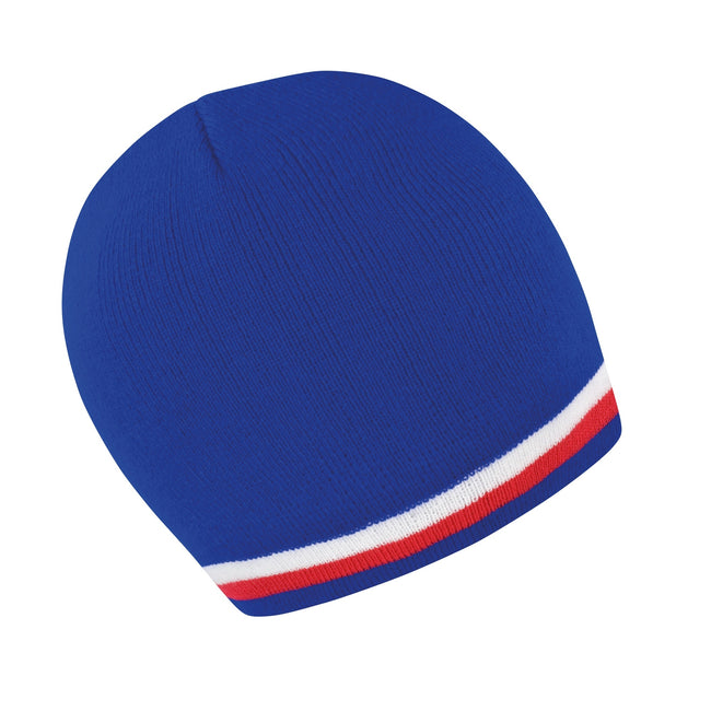 Blue - White - Red - Front - Result Unisex Winter Essentials National Beanie Hat