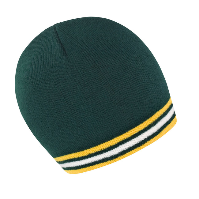 Green - Gold - White - Front - Result Unisex Winter Essentials National Beanie Hat