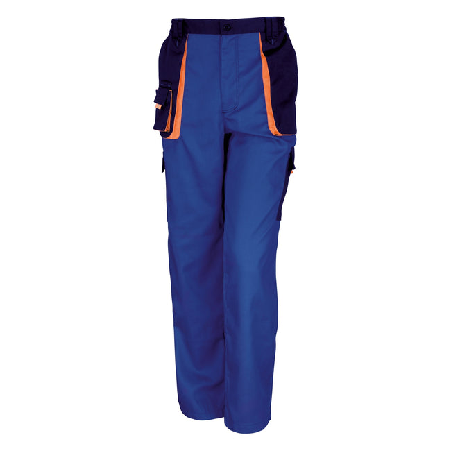 Royal - Navy - Orange - Front - Result Unisex Work-Guard Lite Workwear Trousers (Breathable And Windproof)