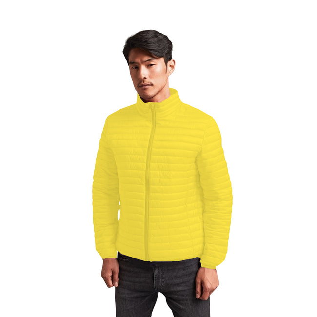 Red - Front - 2786 Mens Tribe Fineline Padded Jacket