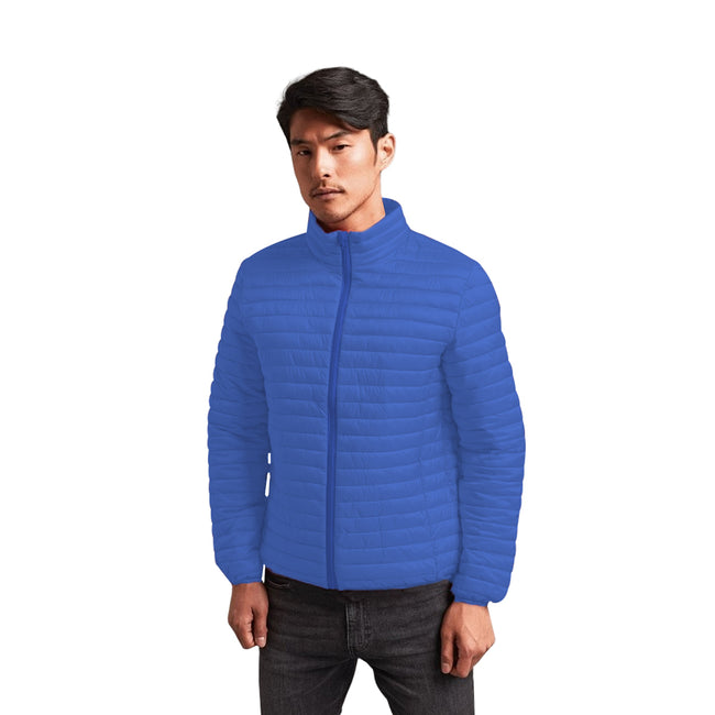 Olive - Front - 2786 Mens Tribe Fineline Padded Jacket