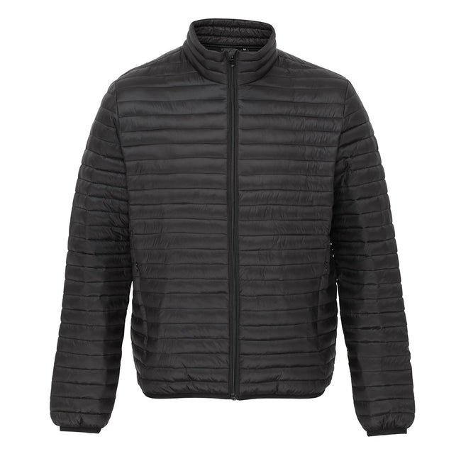 Black - Front - 2786 Mens Tribe Fineline Padded Jacket