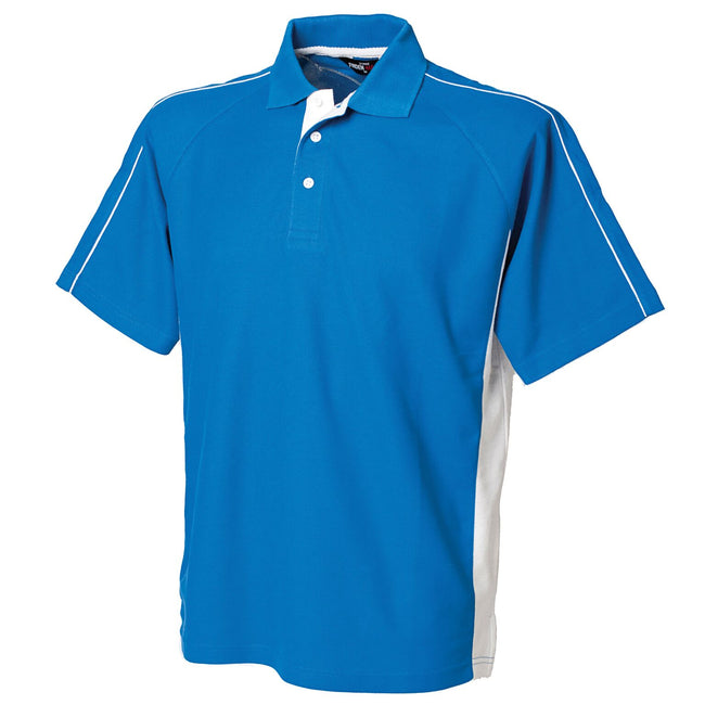Royal-White - Front - Finden & Hales Mens Sports Polo T-Shirt